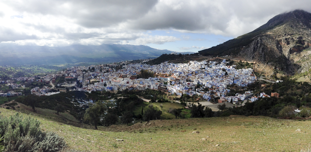 Panorama of Chefchaouen.